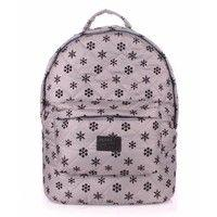 Городской рюкзак POOLPARTY 17 л (backpack-snowflakes-grey)