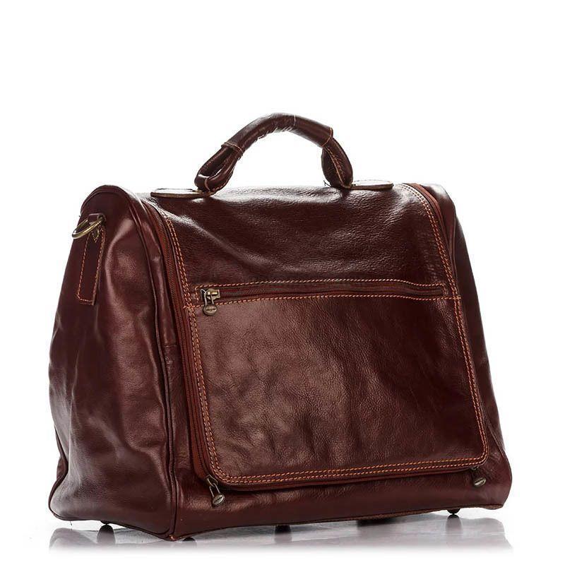 a99a87766cad Дорожная кожаная сумка Italian bags Коричневый (8817P_brown ...