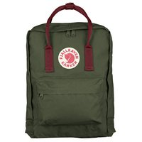 Городской рюкзак Fjallraven Kanken Forest Green-Ox Red 16л (23510.660-326)