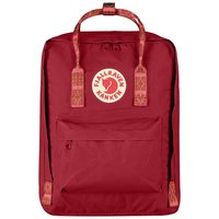Городской рюкзак Fjallraven Kanken Deep Red-Folk Pattern 16л (23510.325-903)