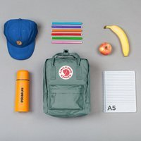 Городской рюкзак Fjallraven Kanken Mini Navy-Warm Yellow 7л (23561.560-141)