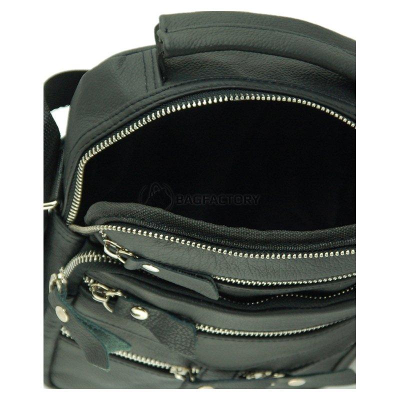 99044ec4e2b3 Мужская кожаная сумка TRAUM Черный (7172-30) - купить Киев, Львов ...