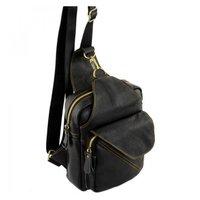 92113b50f5bf Сумка-рюкзак из натуральной кожи TRAUM Черный (7172-50)
