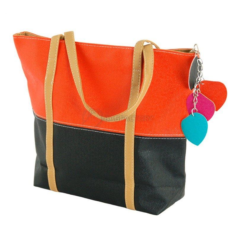 b2b071cf2ebd Киев. Купить! Женская сумка TRAUM Черный с оранжевым (7240-21) 7240-21