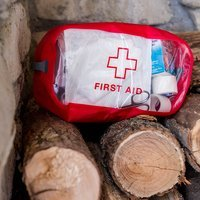 Органайзер Exped CLEAR CUBE FIRST AID S Red (018.0344)