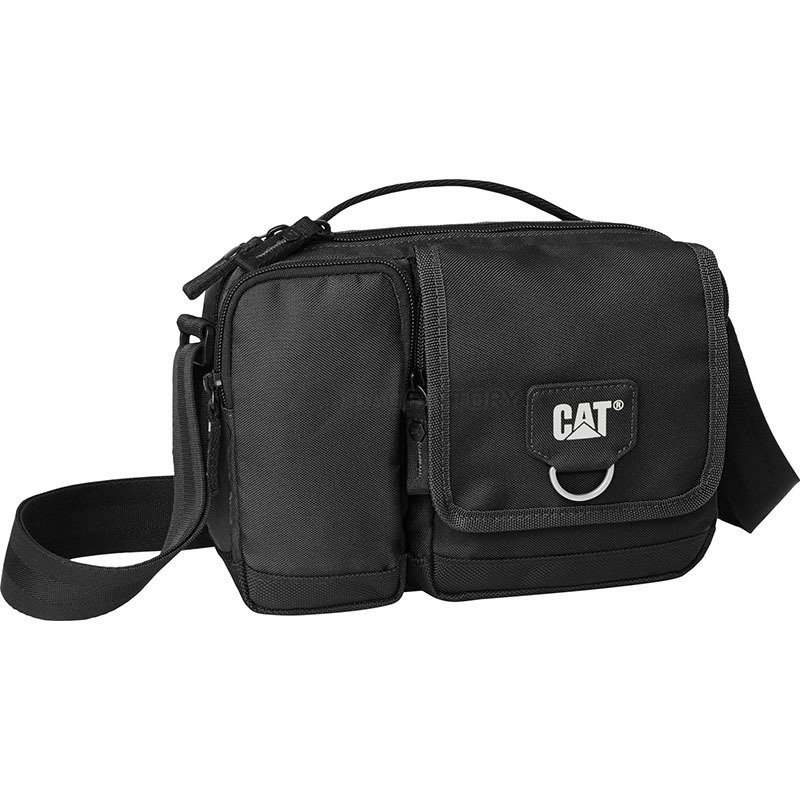 "03df7b5e56cd Мужская сумка через плечо CAT Millennial Classic ""мини-мессенджер"" Черный"