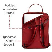 Городской рюкзак Fjallraven Kanken Laptop 13 Deep Red Random Blocked 13л (27171.325-915)