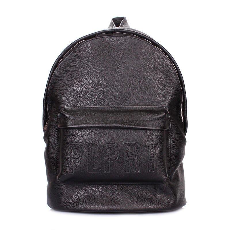 911537572522 Стильный кожаный рюкзак Poolparty backpack-plprt-leather-black - выполнен  из качественной натуральной кожи. Одно отделение, наружный карман, ...