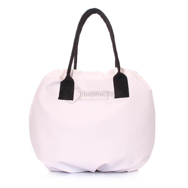 312212476c51 Женская сумка на завязках Poolparty Muffin Белая (muffin-pu-white) muffin-