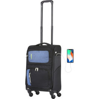 Чемодан TravelZ Triple Pocket S Black (927260)